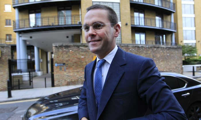 In this July 19, 2011 file photo, Chief executive of News Corporation Europe and Asia, James Murdoch arrives at News International headquarters in London.  (AP Photo/Sang Tan, File)
