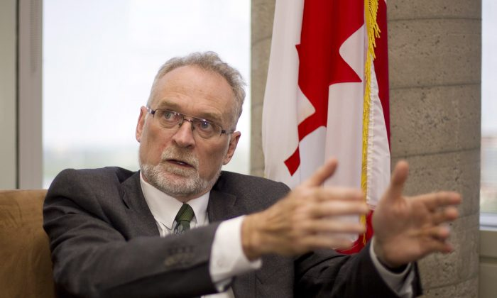 Auditor General Michael Ferguson speaks during an interview in his office in Ottawa on June 10, 2015. Ferguson said he and his auditors encountered a deeply rooted feeling among some senators that they didn't have to be accountable for their expenses. (The Canadian Press/Fred Chartrand)