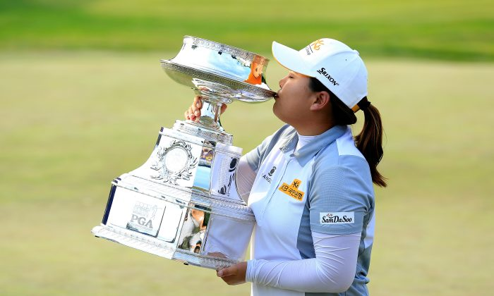 Inbee Park of South Korea has now won three straight KPMG Women's PGA Championships in a row. (David Cannon/Getty Images)
