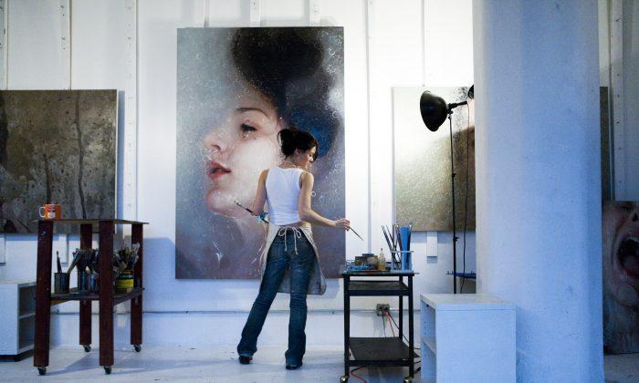 Alyssa Monks in her studio (Courtesy of Stephen Churchill Downes)