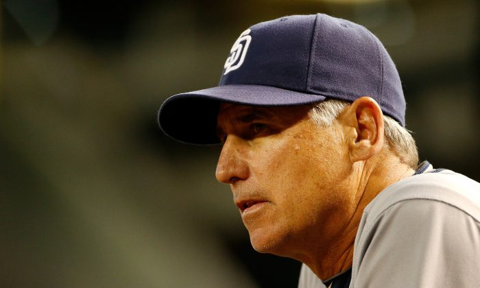 Bud Black was let go by the San Diego Padres after a 32–33 start in 2015. (Christian Petersen/Getty Images)