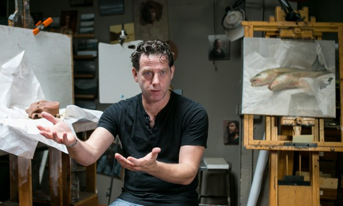 Jacob Collins, artist and founder of the Grand Central Academy, in his home on the Upper East Side of Manhattan on May 19, 2015. (Benjamin Chasteen/Epoch TImes)