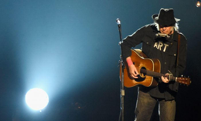 Neil Young wrote Rockin' in the Free World – but what world is Donald Trump in?  (Frazer Harrison/Getty Images)
