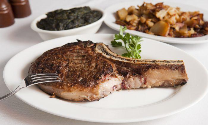 A Rib-eye steak at Empire Steak House in New York City. (Samira Bouaou/Epoch Times
