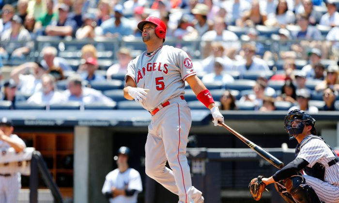 Albert Pujols of the Los Angeles Angels of Anaheim has been back to his old MVP self in June. (Jim McIsaac/Getty Images)