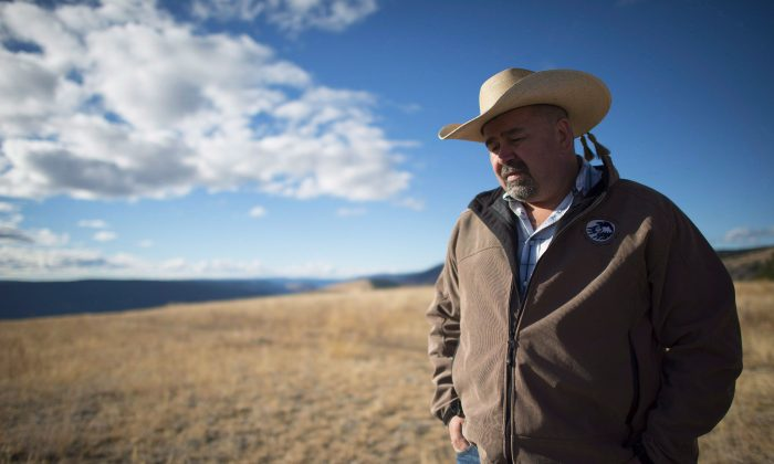Chief Joe Alphonse, tribal chairman of the Tsilhqot'in Nation at Farwell Canyon, B.C., Oct. 24, 2014. (The Canadian Press/Jonathan Hayward)