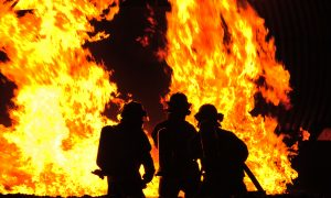 Firefighter Died After Being Trapped in Wind-Fueled Blaze