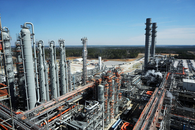 The gas cleanup portion of the Kemper County energy facility in Feb. 2015. (Courtesy of Mississippi Power)