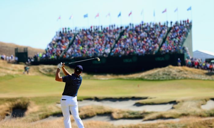 Jordan Spieth won his second straight major—the U.S. Open at Chambers Bay. (Andrew Redington/Getty Images)
