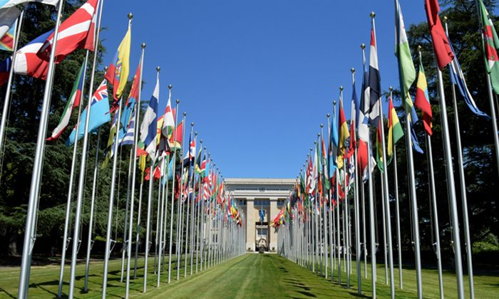 United Nations headquarters in Geneva on June 24, 2015. (Davide Giannotti / Epoch Times)