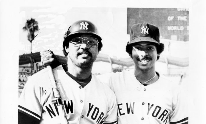 Ray Negron (L) with Mr. October himself Reggie Jackson.