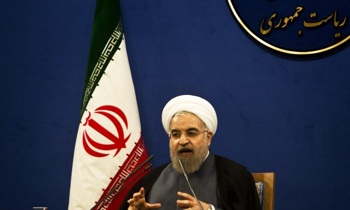 Iranian President Hassan Rouhani speaks during a press conference in Tehran on June 13, 2015. (Behrouz  Mehri/AFP/Getty Images)
