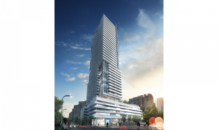 150 Redpath will rise 38 storeys and offer amenities such as a fitness facility, a games room lounge with golf simulator, a bar equipped with taps, a pool, a secluded fire pit retreat, a party room, a spa, and an on-site 24-hour diner.