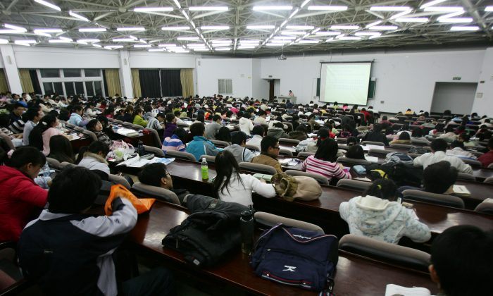 Students attend a lesson at the Northeast Normal University on March 22, 2007 in Changchun City, Jilin Province, China. (China Photos/Getty Images)