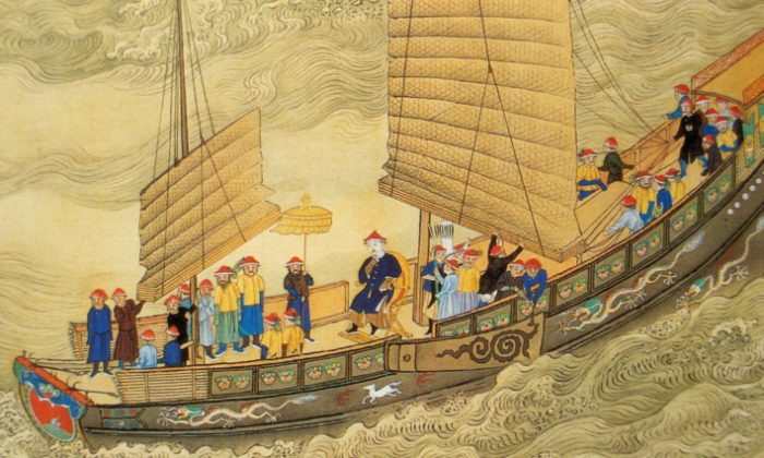 The Kangxi Emperor on tour, early 18th century, Qing Dynasty, China. (Wikimedia Commons)