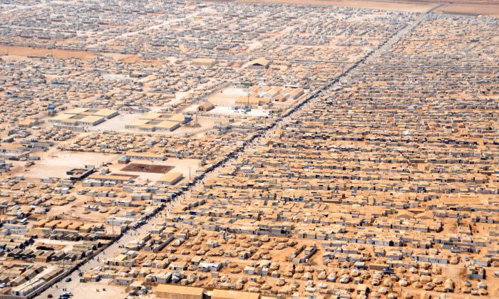 An aerial view of Za'atari refugee camp in Jordan, on July 18, 2013. (U.S. State Department)