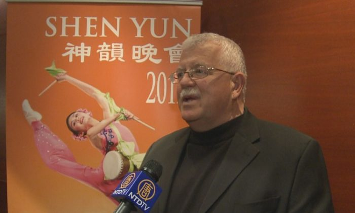 Garry Popowich at the opening performance of Shen Yun Performing Arts at the Northern Alberta Jubilee Auditorium on Tuesday, April 10. (Courtesy of NTD Television)