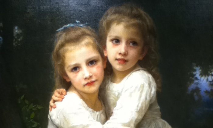 "The French painter Bouguereau (1825–1905) stayed with traditional techniques and themes and was therefore often disrespected or ignored in the modernist art world. William-Adolphe Bouguereau, ""Two Sisters,"" oil on canvas, 1901. (Trout Museum)"