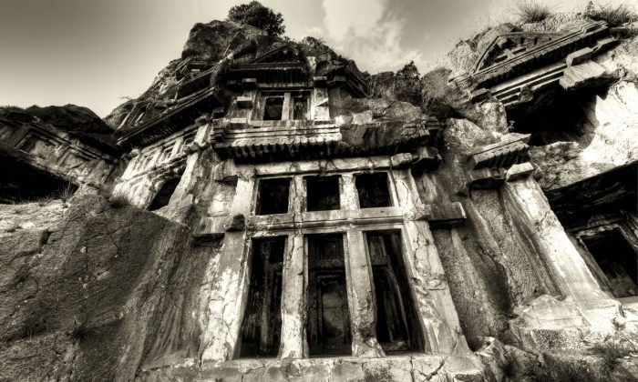 A file photo of rock-cut tombs in the ancient Greek city of Myra. (Demre/iStock)