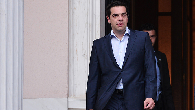 Greek Prime Minister Alexis Tsipras leaves his office in Athens on  July 6, 2015. (Louisa GouliamakiAFP/Getty Images)