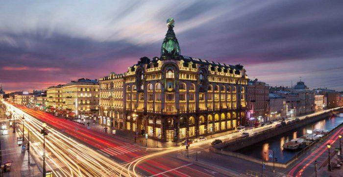 Overlooking Hotel Astoria and  Angleterre Hotel in St. Petersburg