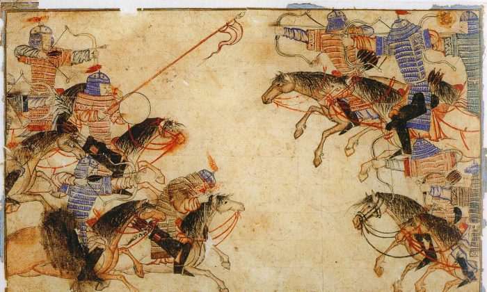 A Mongol melee in the 13th century. (Public Domain)