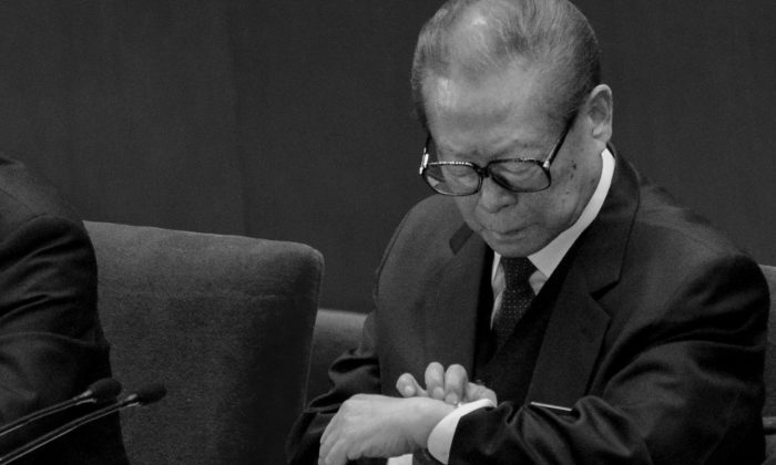 Jiang Zemin at the 18th National Congress in Beijing on Nov. 14, 2012. (Wang Zhao/AFP/Getty Images)