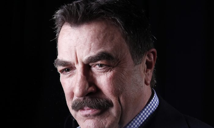 FILE - This March 21, 2012 file photo Actor Tom Selleck poses for a portrait in New York. (AP Photo/Carlo Allegri, File)