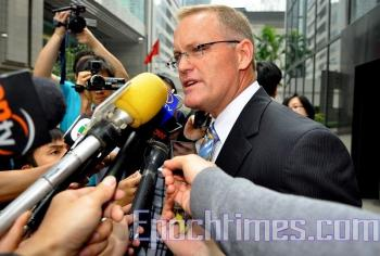 David Matthews, General Counsel of Fonterra Co-operative Group. (Kuang Tianming/ The Epoch Times)