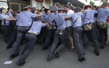 Pro-Freedom of Assembly Protesters Arrested in Russia