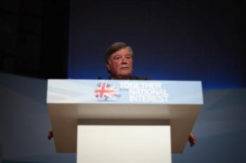 British Justice Secretary Ken Clarke speaks at the Conservative Party Conference on Oct. 5, 2010 in Birmingham, England. (Dan Kitwood/Getty Images)
