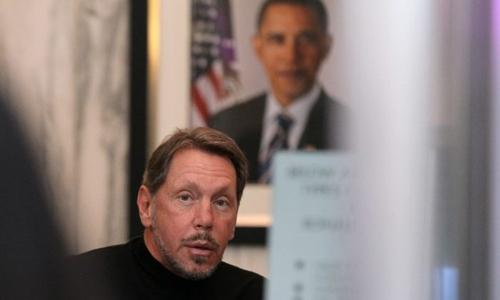 Larry Ellison prepares to enter the court for a court trial against SAP in this file photo. Mr. Ellison was a prominent part of the legal proceedings in the more recent Google-Oracle lawsuit over the popular Android operating system. (Getty Images)