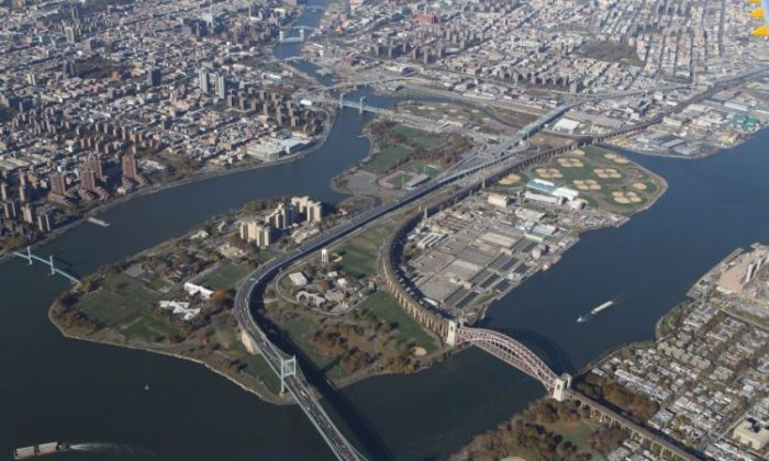 An aerial view of Randalls Island in New York City. (Bruce Bennett/Getty Images)