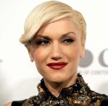 Gwen Stefani, known for her signature platinum blonde hair and red lipstick, is the new face for L'Oreal Paris's new Infallible Le Rouge lip color campaign.  (Frazer Harrison/Getty Images for MOCA)