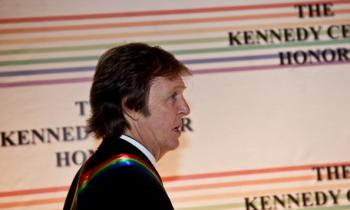 Paul McCartney at the Kennedy Center in Washington on Dec. 5, 2010.  (Nicholas Kamm/AFP/Getty Images)