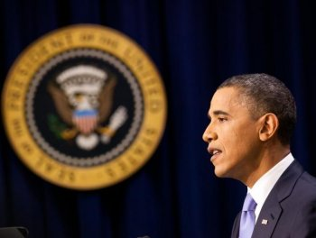 President Obama holds a news conference at the Eisenhower Executive Office Building on December 8, in Washington, DC.   (Brendan Hoffman/Getty Images)