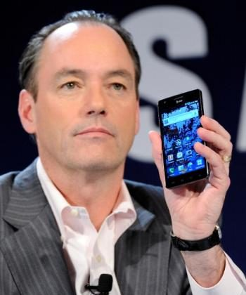 Smartphone Apps: Samsung's President of Consumer Business Division Tim Baxter displays the Samsung Infuse 4G Android smartphone. The Android platform, since its debut, has stirred up a new wave of smartphone applications. (Ethan Miller/Getty Images)
