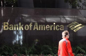 A pedestrian walks by a Bank of America branch office on January 21, 2011 in San Francisco, California. During 2010, U.S. banks increased their lending, although most of the credit was extended to large- and medium-sized businesses. (Justin Sullivan/Getty Images)
