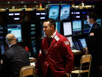 STOCKS SOARING: A view of the New York Stock Exchange floor is seen on Wednesday, Jan. 26. Demand Media's initial public offering on Wednesday was successful as the company's stock jumped more than 33 percent on the day of its IPO. (Chris Hondros/Getty Images )