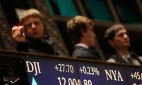 Dow Flirts With12,000 Mark for First Time in Over Two Years