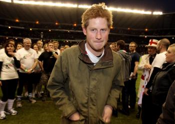 Prince Harry at the RBS 6 Nations Championship match on Feb. 26, 2011 in London, England. (David Rogers - WPA Pool/Getty Images)