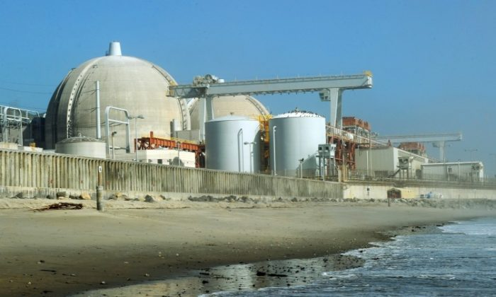 View of the San Onofre Nuclear Power Plant in north San Diego County on March 15, 2011. The plant was closed late Tuesday after a leak was discovered. (MARK RALSTON/AFP/Getty Images)