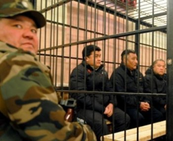 The three former top officials are charged on April 2010 protests in Kyrgyzstan that led to the downfall of President Kurmanbek Bakiyev and his government. (AFP/ Getty Images)