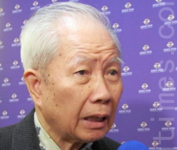 Mr. Huang Tiancai, a media veteran and writer.  (Liang Shujing/The Epoch Times)