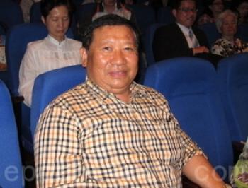 Mr. Chen Jincheng, Chairman of Bowei Enterprise Co. Ltd., at Shen Yun Performing Arts in Yuanlin. (Zheng Wei/The Epoch Times)