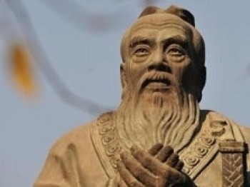 An statue of Confucius in Beijing in 2008. Critics of the regime say that the real purpose of its recent awarding of scholarships and setting up of Confucius Institutes in Africa is to gain political influence in the region. (Frederic J. Brown/AFP/Getty Images)