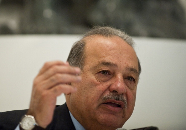 Mexican tycoon Carlos Slim speaks during a press conference in Mexico City in 2011. (Ronaldo Schemidt/AFP/Getty Images)