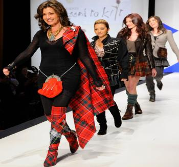 IDEAS: Miniskirts or boots, tartan looks fashionable no matter where you put it. (Andrew Walker/Getty Images)