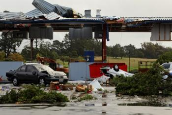 Tornado Takes Auckland by Surprise