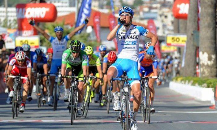 Colnago's Sascha Modolo wins the sprint in Stage Six of the Tour of Turkey. (TourofTurkey.org)